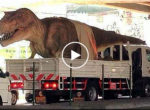 Dinosaur on the road