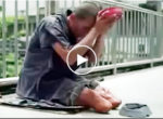 Fake beggar