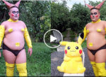 Fat idiot with Pokemon