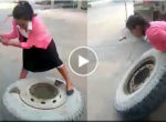 Girls tire service