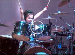 Little girl drummer