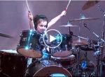 Little girl drummer