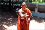 Monk and spinning top