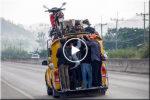 Motorbike in taxi