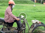 Motorcycle lawnmower