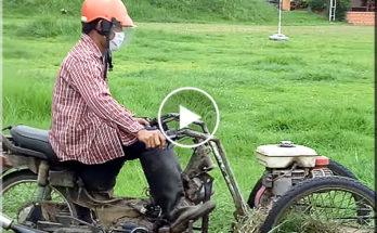 Motorcycle lawnmower