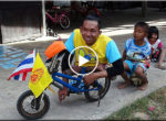 Thai legless cyclist