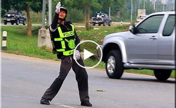 Thai police dancer