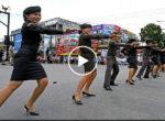 Thai police dancing