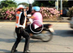 Thai policeman dancing