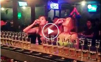 When girls booze